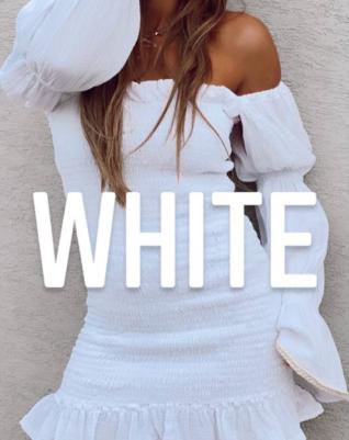 שמלת ברבי ציפקות- לבן