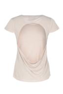 Basic shirt - bare back - peach
