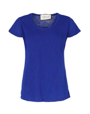 חולצת בייסיק- גב חשוף- כחולה