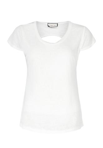 חולצת בייסיק- גב חשוף- לבנה