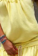 גופיית וופל- צהוב