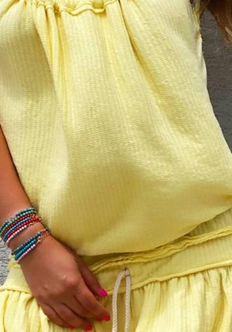 חליפת וופל- צהוב
