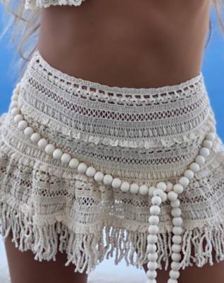 Crocheted fringe skirt