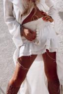 Mini maxi boho skirt