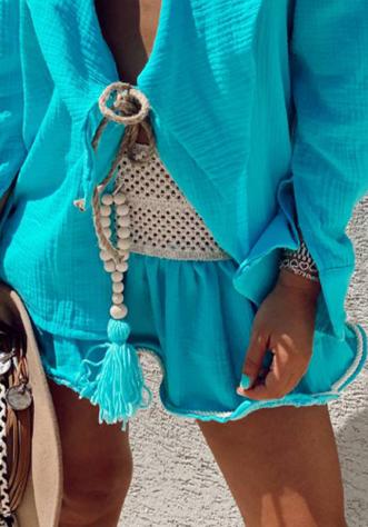 חצאית קלואי קרושה- כחול