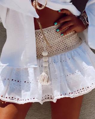 Crochet skirt - white