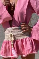 חולצת קלואי קרושה- ורוד