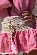 Chloe-crocheted skirt - pink