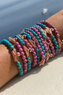 Gemstone bead bracelet - sea blue