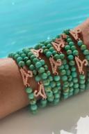 Green gemstone bead bracelet