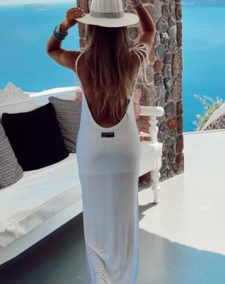 ריב חוף - שמלה לבנה