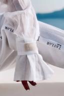 חולצת שרוול קלאו - לבנה