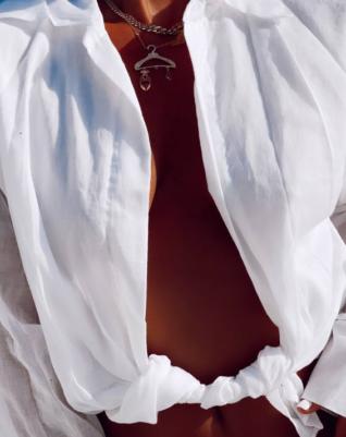 Claw sleeve shirt - white