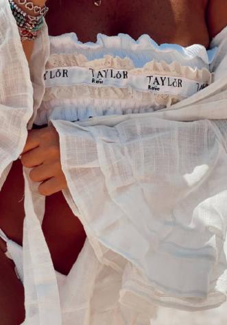טיילור וינטאז לבן- בגד ים