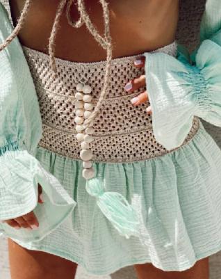טיילור לוק ירוק סלאדין- חצאית קרושה