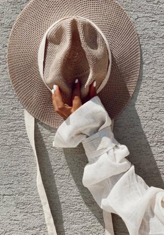 כובע וינטאז פשתן