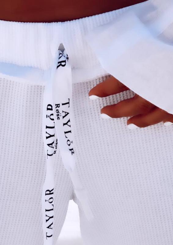 מכנס וופל טיילור לבן4