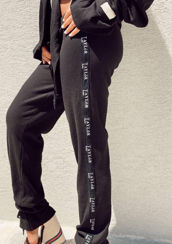 סט וופל וינטאז׳ שחור מכנס1