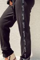 וופל וינטאז׳ שחור- מכנס