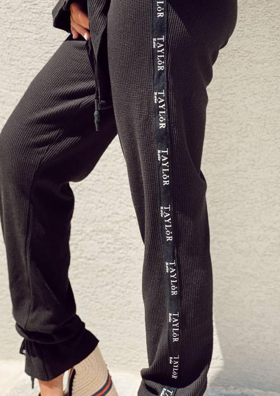 סט וופל וינטאז׳ שחור מכנס5