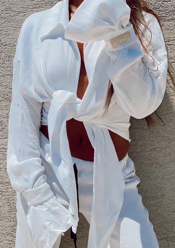 סט וופל וינטאז לבן חולצה3