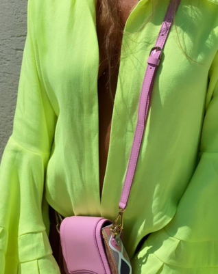Linen fabric shirt - glowing green