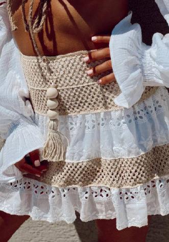 חצאית קרושה- לבנה