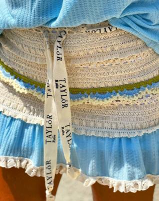 Crocheted skirt - light blue
